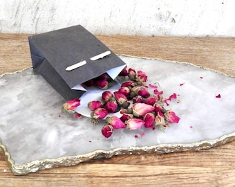 Dried Rose Buds - Non-Edible - Loose Rose Bud Flowers - Organic Fair-trade Pouch