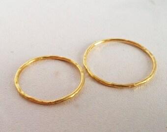 Fair trade 22k yellow gold wedding rings, Fairmined wedding bands