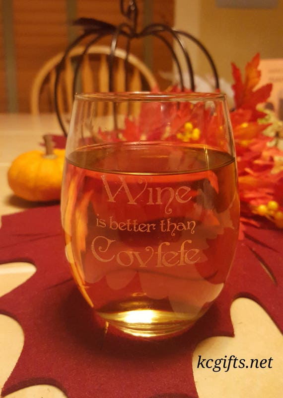 Donald Trump COVFEFE Wine Glass Christmas Gift Wine is | Etsy