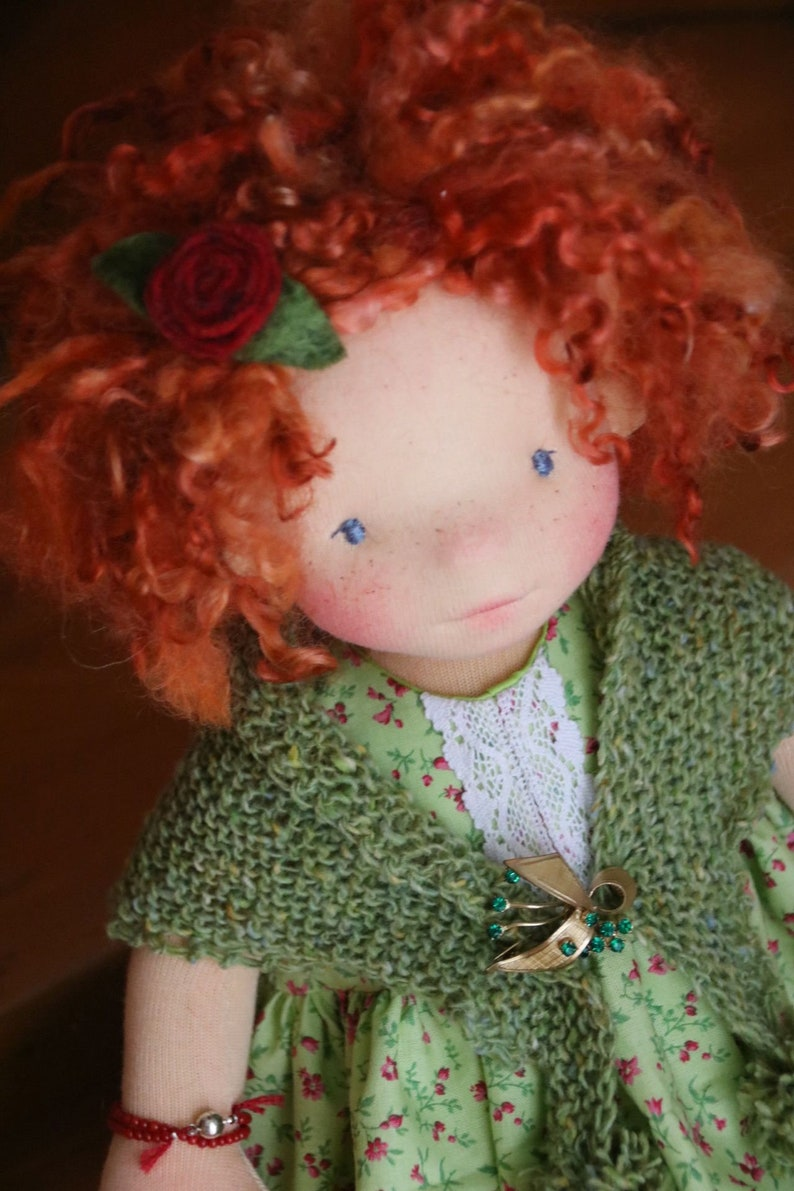 Aine and Momo by Atelier Lavendel OOAK Natural Fibers Art image 0