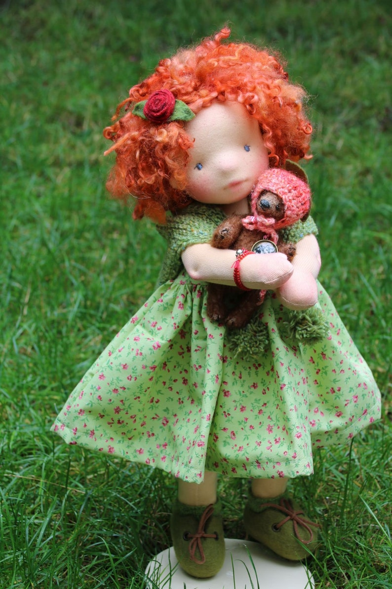 Aine and Momo by Atelier Lavendel OOAK Natural Fibers Art image 5