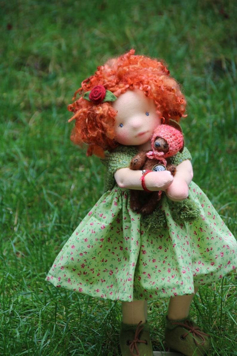 Aine and Momo by Atelier Lavendel OOAK Natural Fibers Art image 2