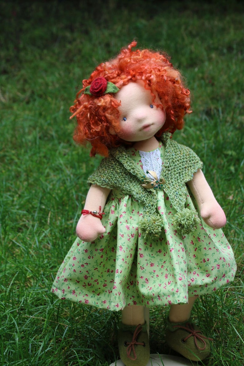 Aine and Momo by Atelier Lavendel OOAK Natural Fibers Art image 3