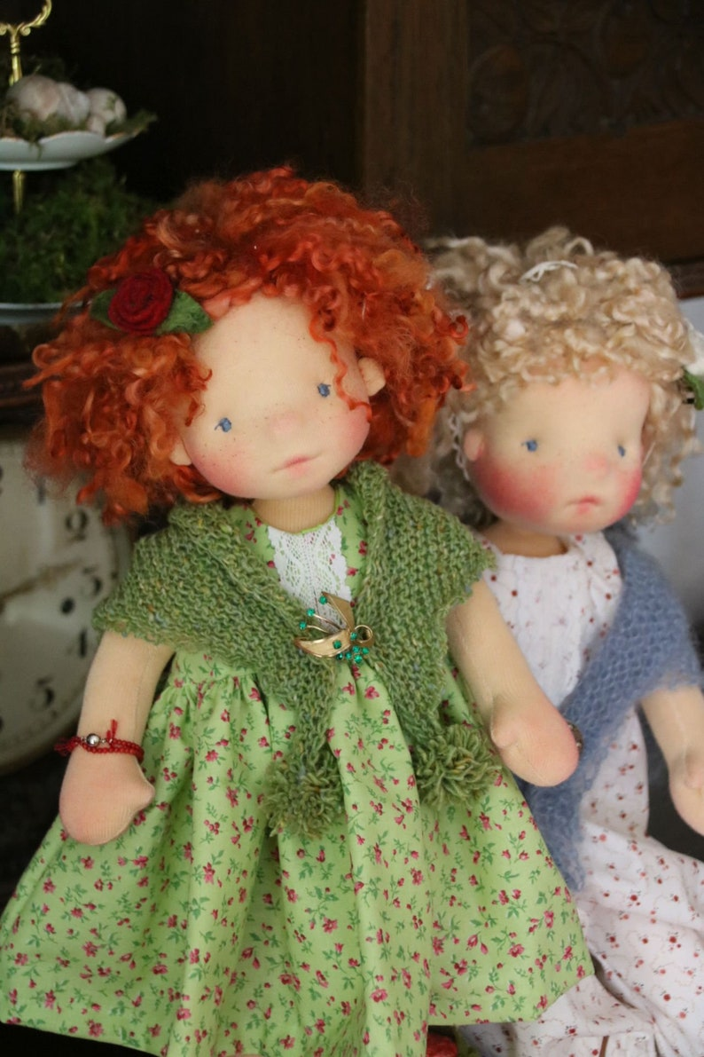 Aine and Momo by Atelier Lavendel OOAK Natural Fibers Art image 9
