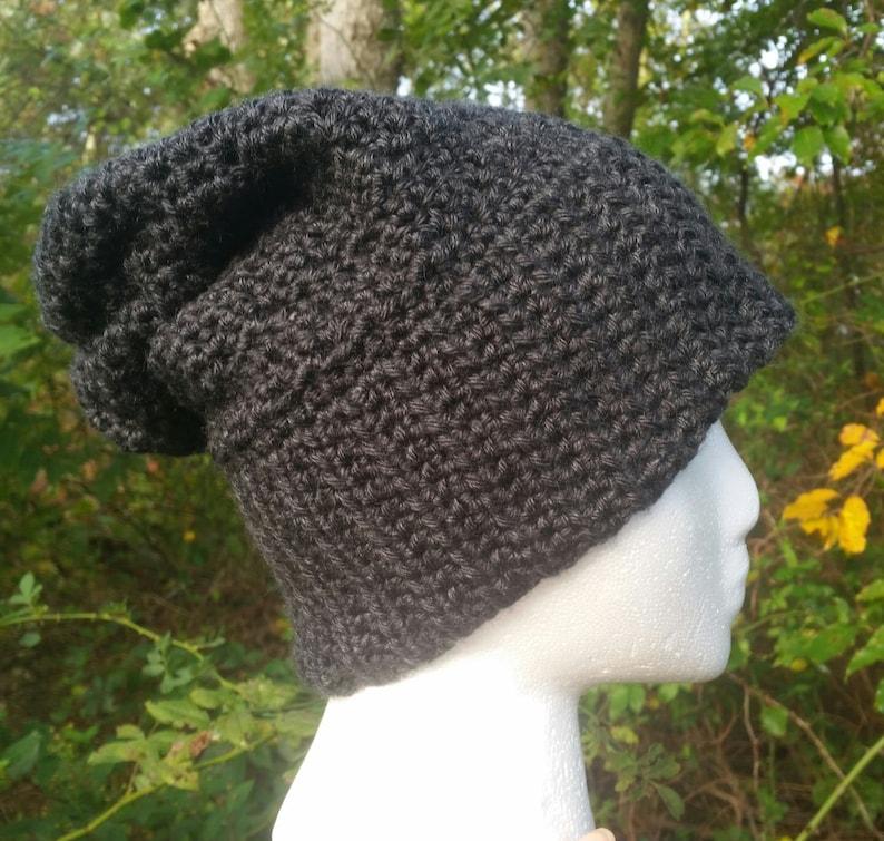 The Mallon Beanie Crochet Hat PATTERN Slouchy Beanie Crochet Pattern