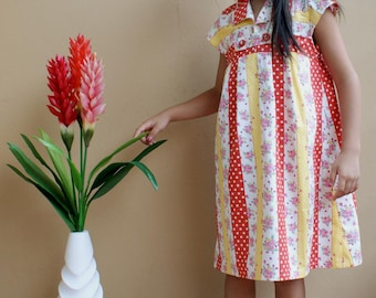 New - PDF Pattern - XL Hannah Dress for 6T - 10T and tutorial.