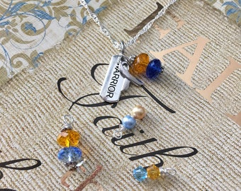 Down Syndrome Warrior Awareness Necklace - Sterling Silver