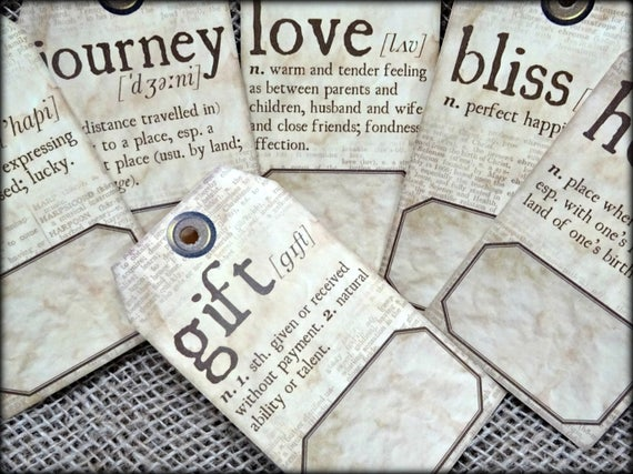 6 Alice in Wonderland Themed Gift Tags /& Jute Twine
