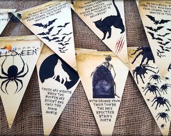 Vintage Rhyme Halloween Bunting/Banner