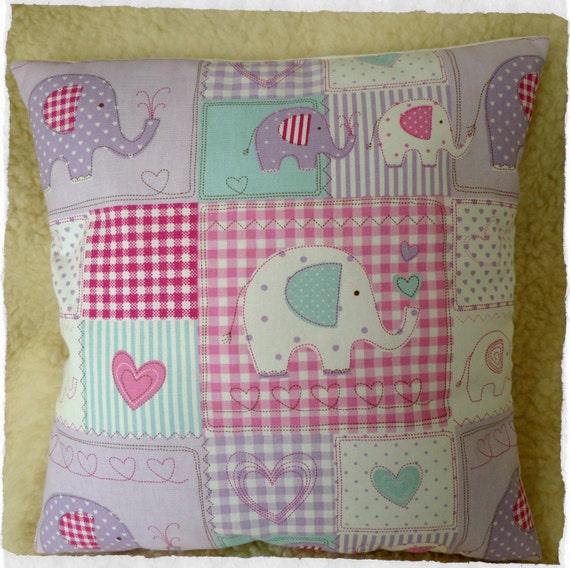 Fryetts Bobo Elephant Lilac Cushion Cover