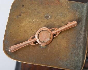 Vintage metal plate, part of old brooch