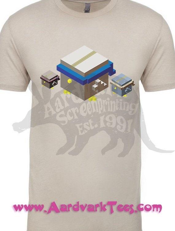 d2eab5938de Boxy Birbs Hand Printed Parody Bird T-Shirt