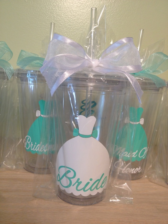 Unique Wedding Gifts Canada: Bridal Party Gift Dress Style Personalized Drinkware
