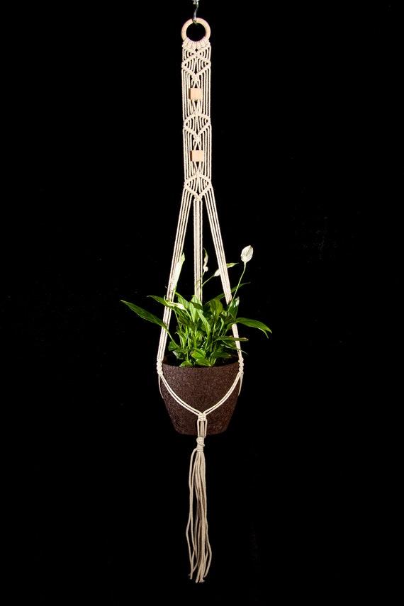 image 0 Macrame plant hanger Hanging planter