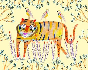 illustration art print, children's illustration.