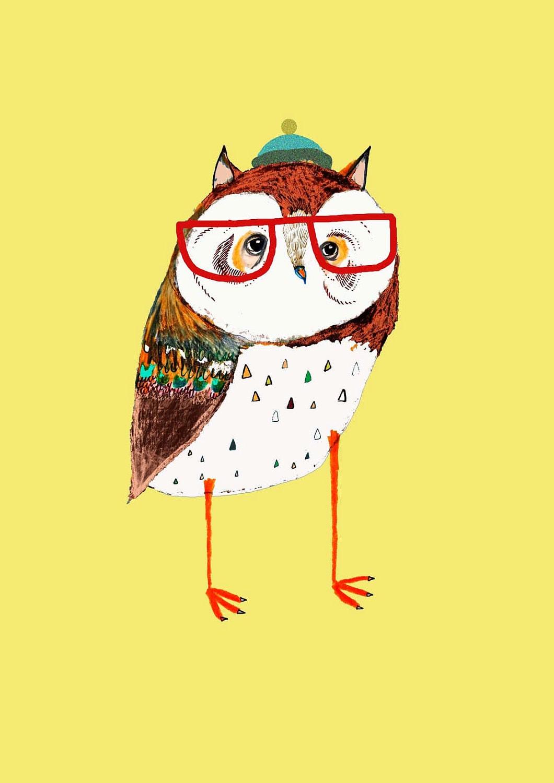 Fresh Owl. art print for kids wall art children\'s decor | Etsy