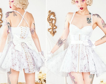 """53ac0910947 Clear PVC and Lace Corset Skirt XS 20"""" from Artifice Clothing"""