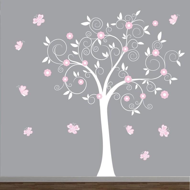 Baby Mädchen Baum Wandtattoo Kinderzimmer Wand Dekor | Etsy