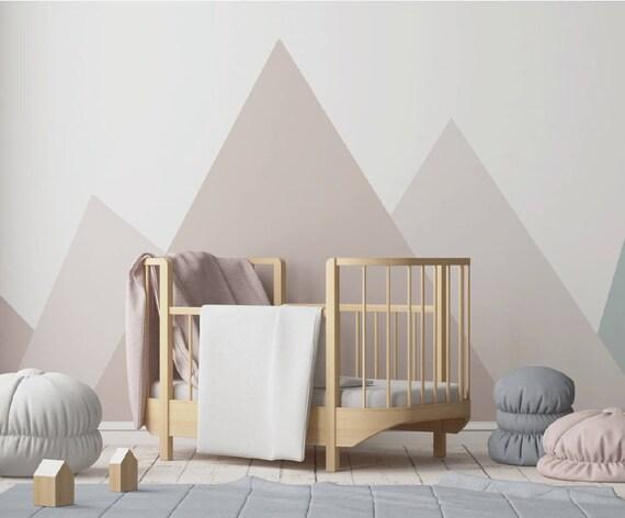 Berg Wandtattoo Wandtattoo Kinderzimmer Moderne Berge Rosa Etsy