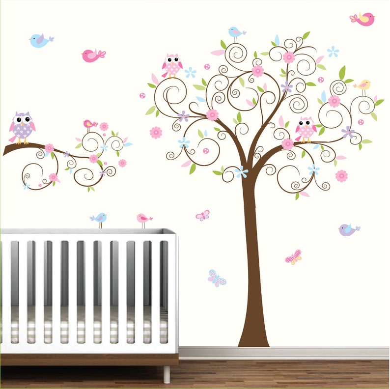Kinderzimmer Wandtattoo, Kinder Wand Wandtattoo Baby Mädchen,  Kinderzimmer-Wand-Kunst, WallDecals Kindergarten-e12