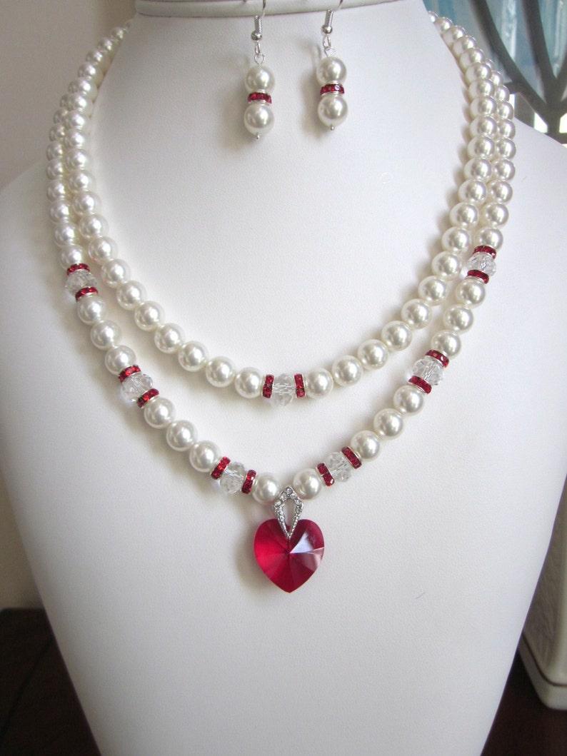 e9208b5aea11 2-cadena collar de perlas perlas de Swarovski y cristal