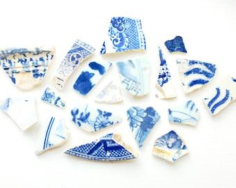 Asian porcelain shard framed charms