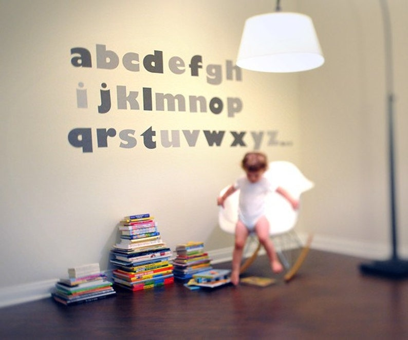 Alphabet Reusable Fabric Wall Decals by Pop & Lolli image 0