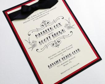 Encré - Invitations de mariage de tatouage