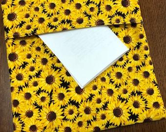 Microwave Potato Bag Golden Sunflowers Themed Tortilla Warmer, Trivet, Pot Holder, Bread Warmer