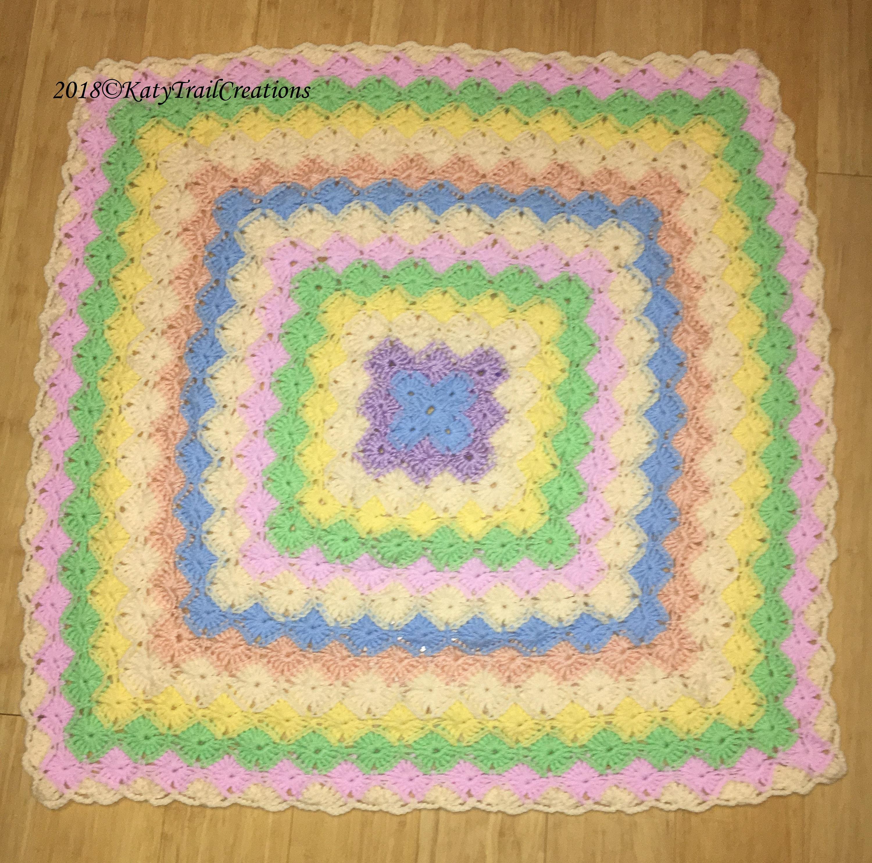 Pastel Rainbow Bavarian Crochet Baby Blanketready To Ship Etsy