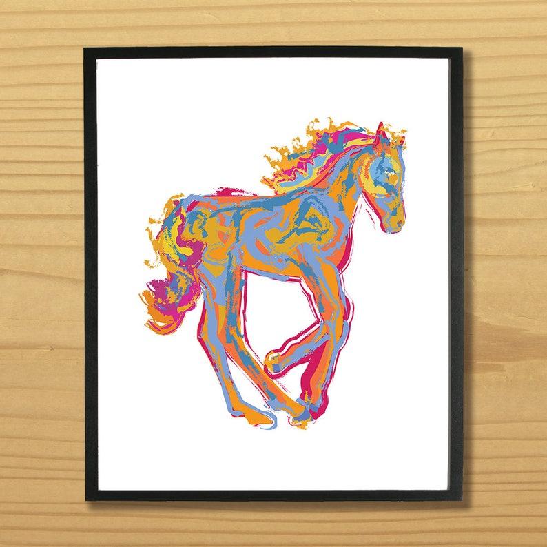 Printable PONY WALL ART Digital Download EvisionArts image 0