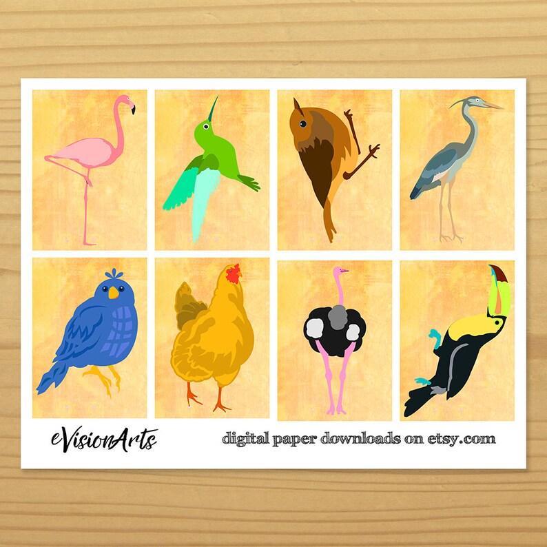 Bird Gift Tags Flamingo Gift Tag Hummingbird Gift Tag Robin image 0