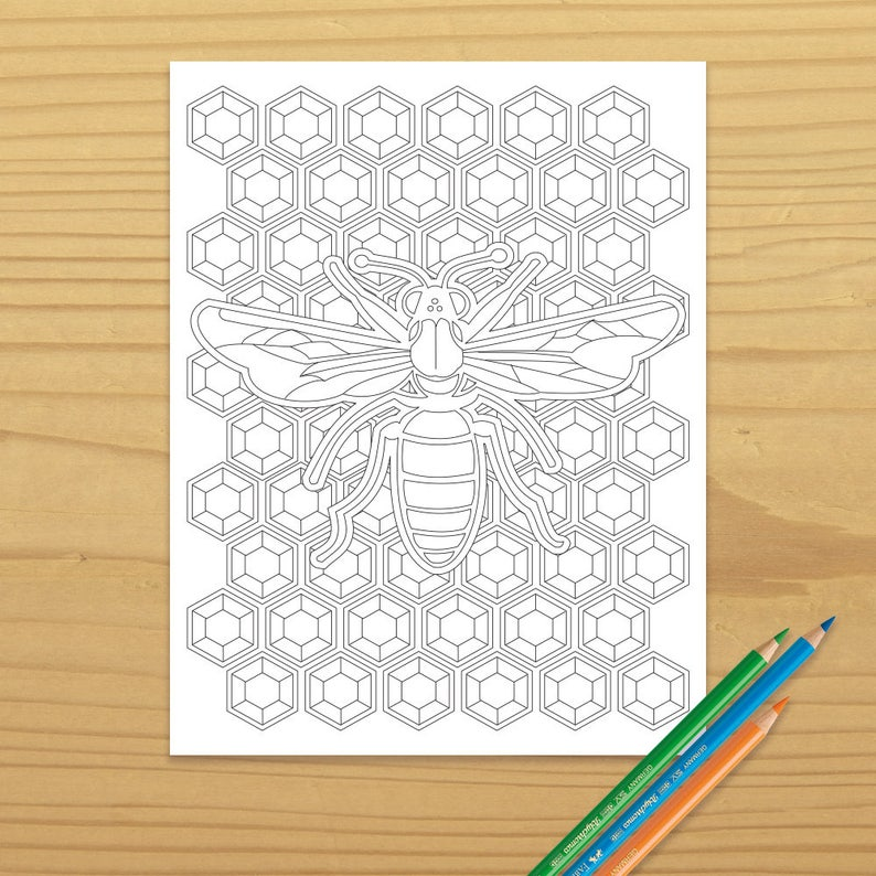 Honeybee Coloring Page Honey Bee Coloring Page Bee Coloring image 0