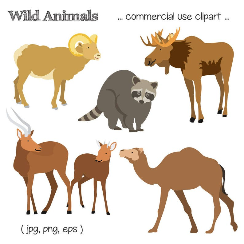 Animal Clipart Wildlife Clipart Moose Clipart Antelope image 0