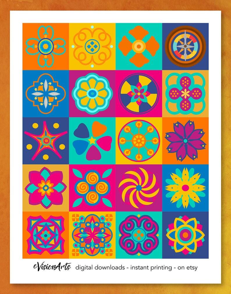 Scrapbook Paper Geometric Scrapbook Paper Pretty Scrapbook image 0