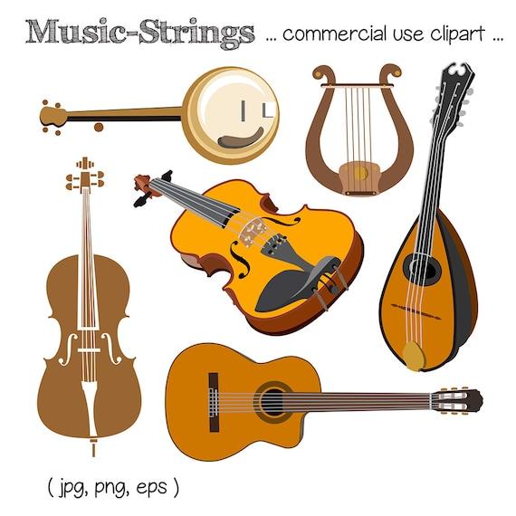 Clipart de música imágenes prediseñadas de instrumento de ...