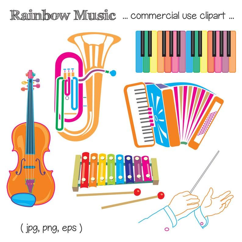 Printable MUSIC CLIP ART  Piano Tuba Cello Accordion image 0