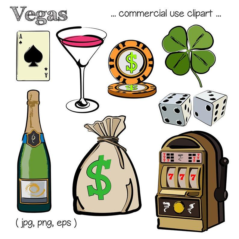 Vegas Clipart Vegas Clip Art Slot Machine Clipart Champagne image 0