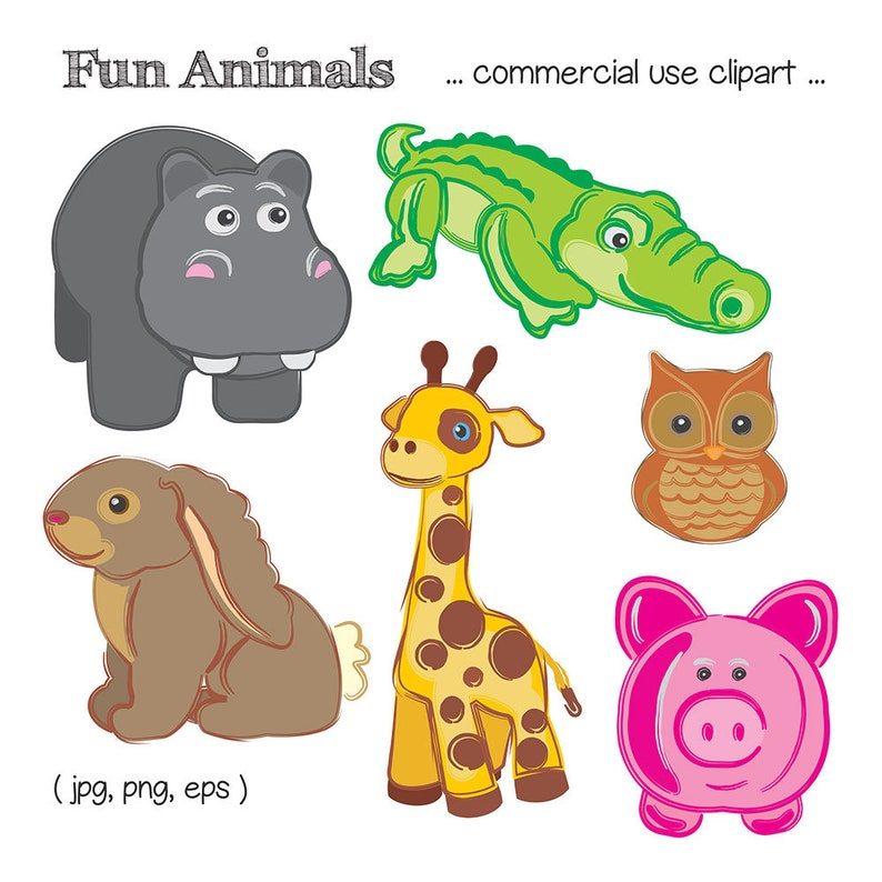 Cute Animal Clipart Animal Clip Art Giraffe Clipart image 0