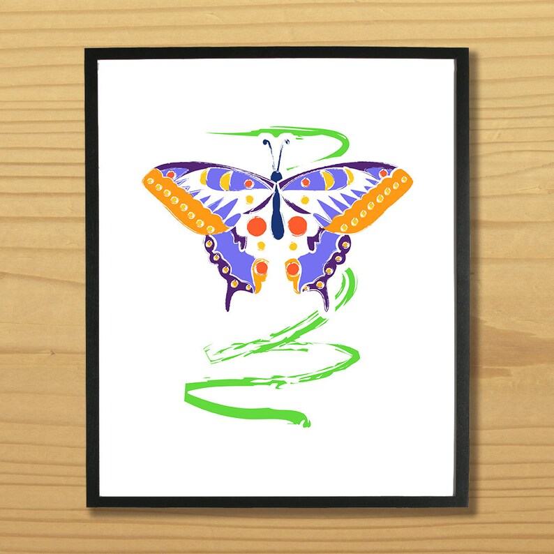 Butterfly Wall Art Moth Print Bug Art Insect Print Butter image 0