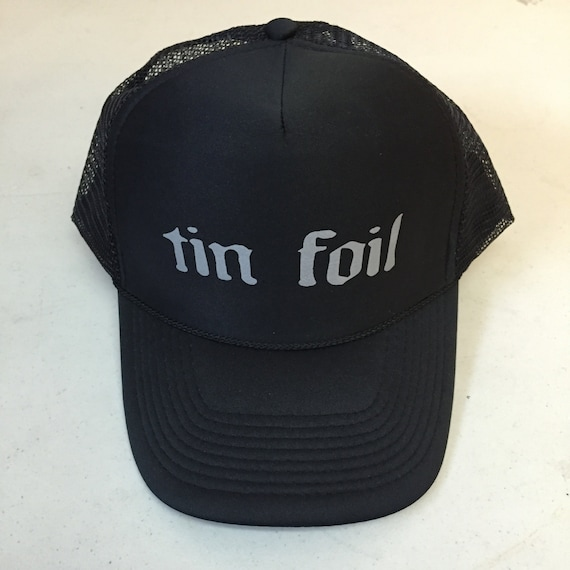 Tin Foil Hat. All black limited edition adjustable size  06339edc6260