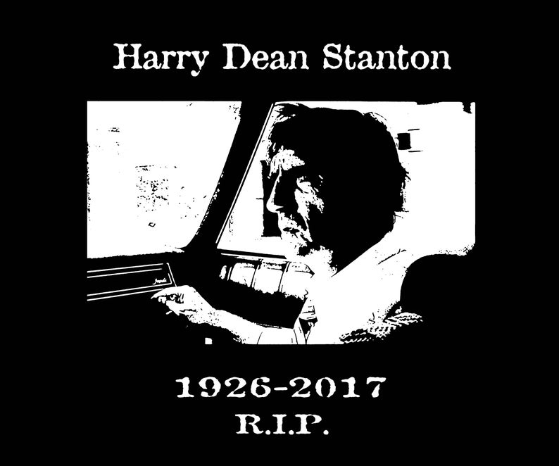 Harry Dean Stanton Memorial T-Shirt with photo from Repo Man image 0