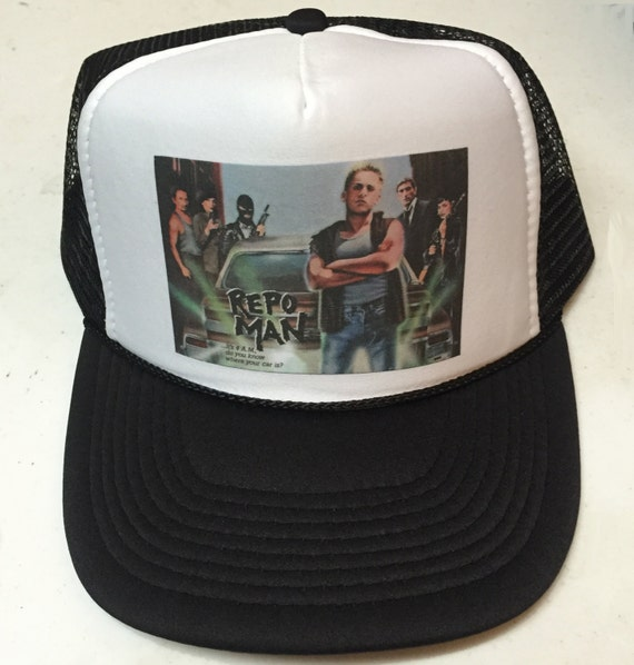 be9b1642bd4 Repo Man Movie Poster bad ass limited edition adjustable size snapback mesh  classic trucker hat.
