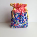 Quilted Drawstring Bag - Mother's Day or Birthday - Hostess Gift - Teacher Gift