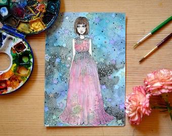 Original Fashion Illustration - Galaxy Gal