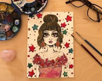 Original Fashion Illustration - Crystal Lady