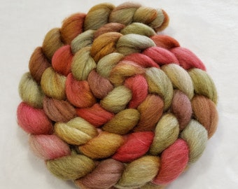 30 4 Ounces Corriedale Wool Roving for Spinning and Felting Colors Burnt Orange