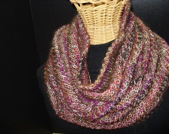 SALE***25% OFF Original Price - Hand Knitted Circular Scarf/Cowl