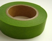 Japanese Washi Masking Tape Green Solid One Roll 16 yards