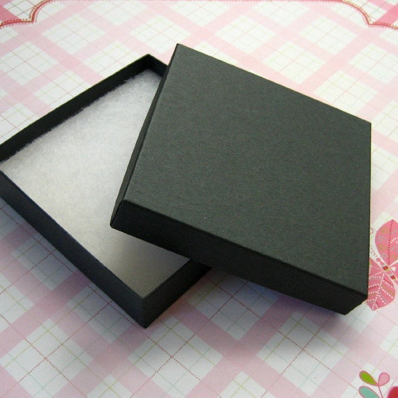2 1/2 x 1 1/2 x 7/8 Cotton Filled Jewelry Boxes Pkg OF 30 Kraft Jewellery Boxes